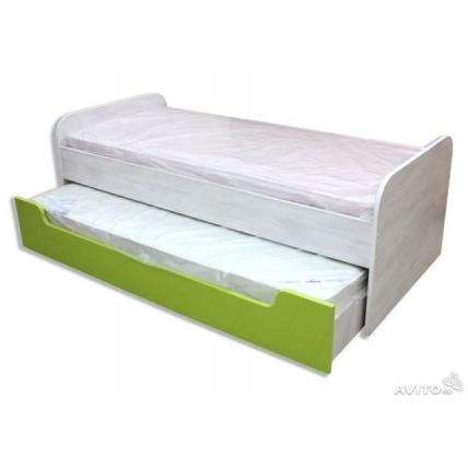 """кровать """"ЮНИОР-4"""" двойная с ящиками"""